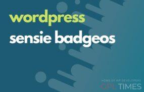 wpress sensie badges