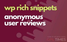 wprich snippets anonymous user reviews