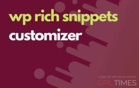 wprich snippets customizer