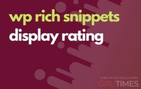 wprich snippets display rating