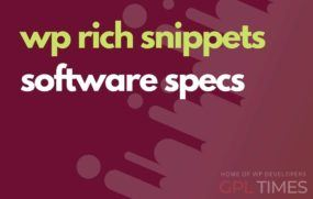 wprich snippets software specs