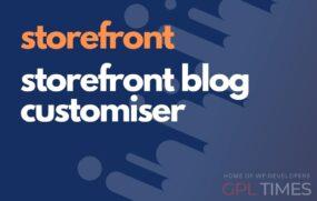 store front storefront blog customiser