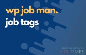 wpjob manager job tags