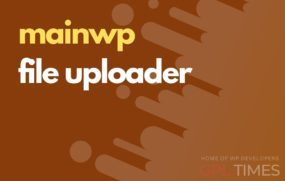 mainwp file uploader