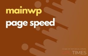 mainwp page speed
