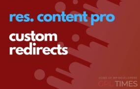 rc pro custom redirects