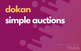 simple auctions dokan