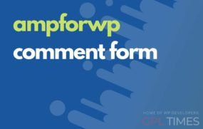 ampwp comment form