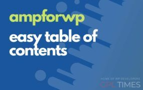 ampwp easy table of contents