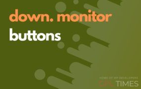 down monitor buttons
