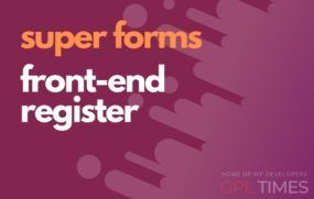 sforms front end register