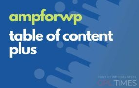 ampwp table of content plus