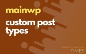 mainwp custom post types