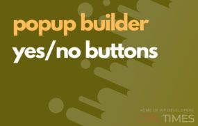 popup build yes no buttons