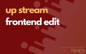 up stream frontend edit