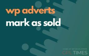 wp adverts mark as sold