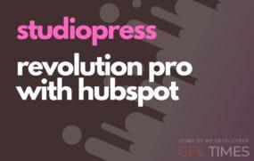studio press Revolution Pro with HubSpot