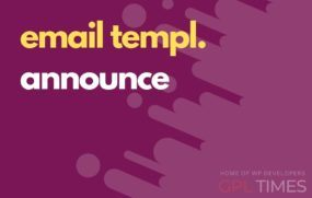 email temp announce