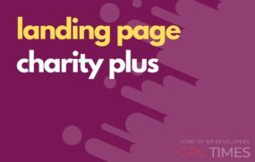 landing page temp charity plus