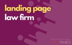landing page temp law firm
