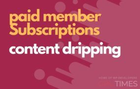paid member content dripping