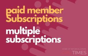 paid member multiple subscriptions