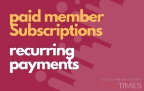 paid member recurring payments