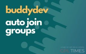 buddydev auto join groups