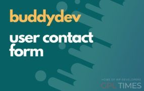 buddydev contact form