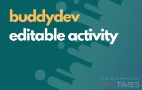 buddydev editable activity