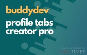 buddydev profile tabs creator pro