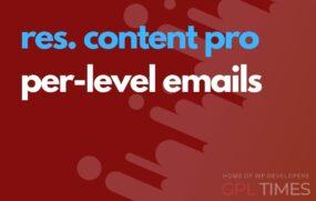 rc pro per level emails