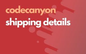 codecanyons shipping details
