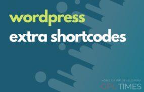 wordp extra shortcodes